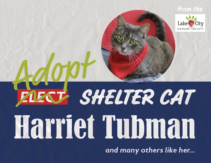 Harriet Tubman from the Lake City Humane Society